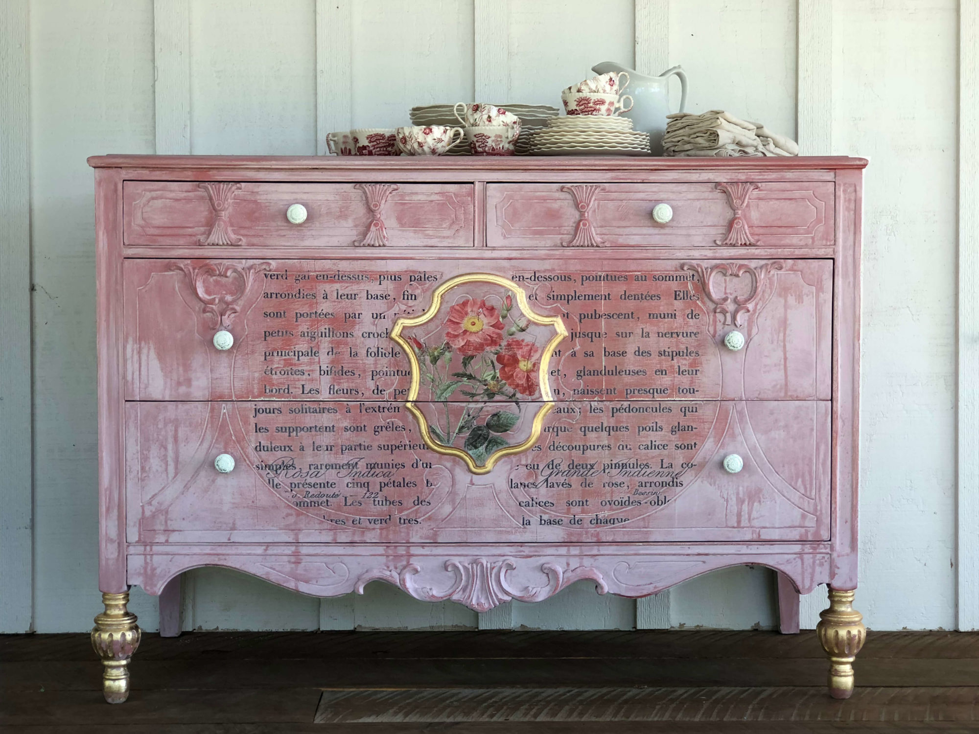 IOD_pretty_in_Pink_dresser_diy_makeover