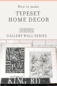 DIY Home Decor with Typeset