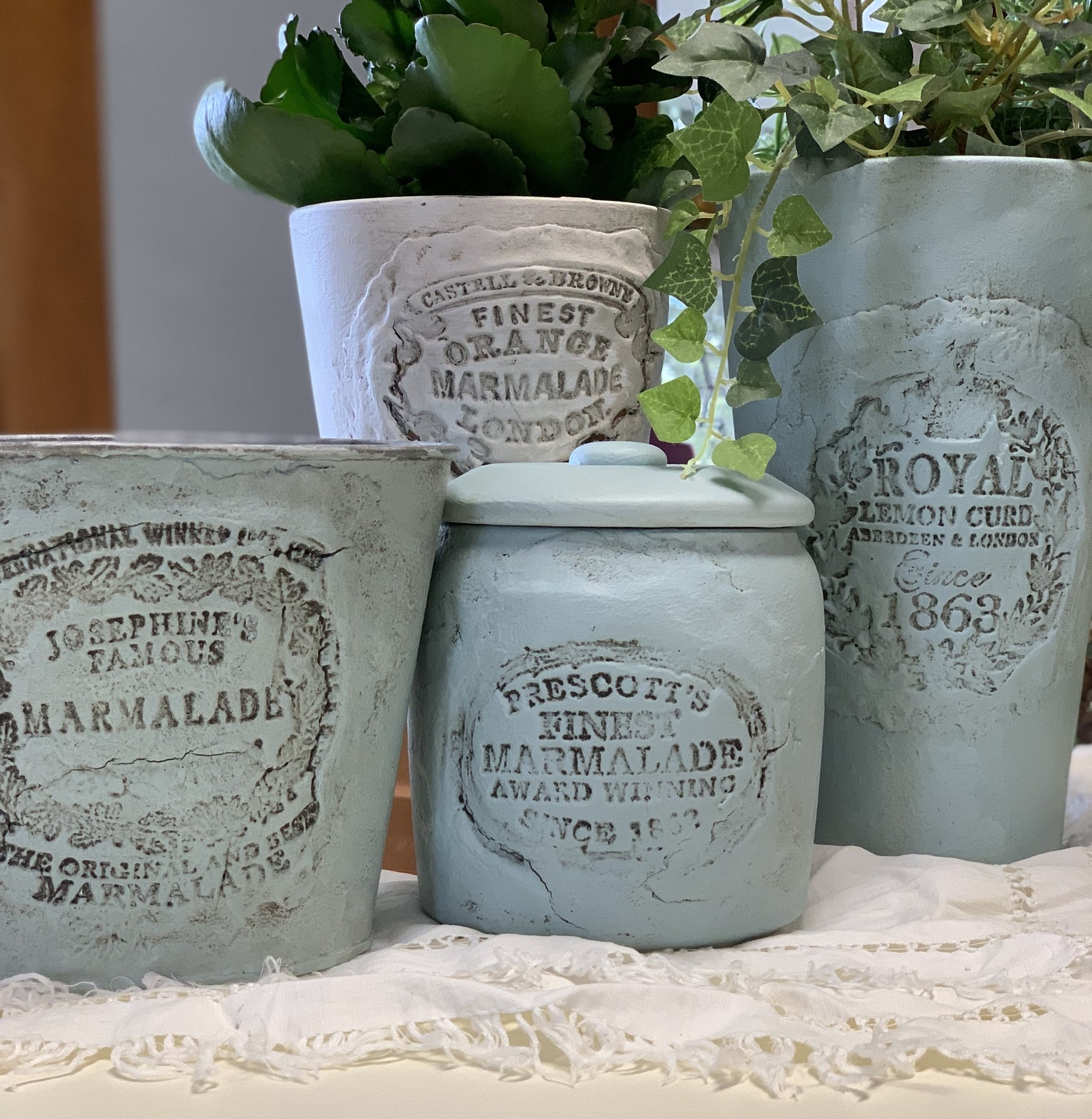 DIY flower pots and English crockery craft project