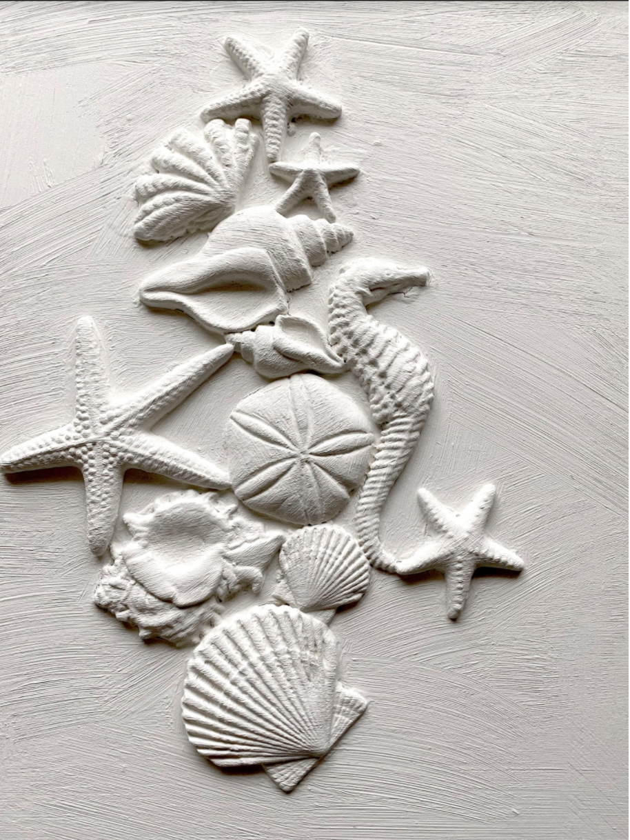 Coastal molds for food, crafts and decor with seashorses, starfish and sand dollars