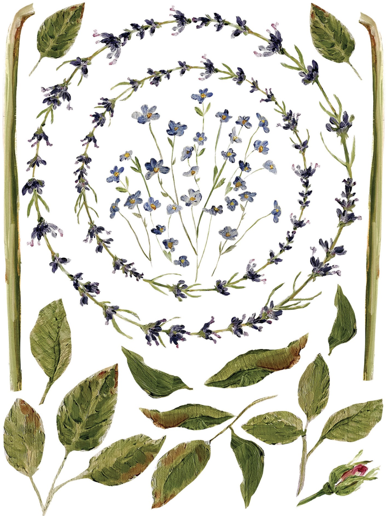 stems and leaves transfers for DIY home decor including the IOD transfers 2020