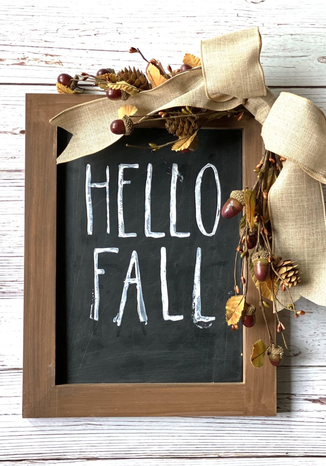 DIY wood sign for fall decor