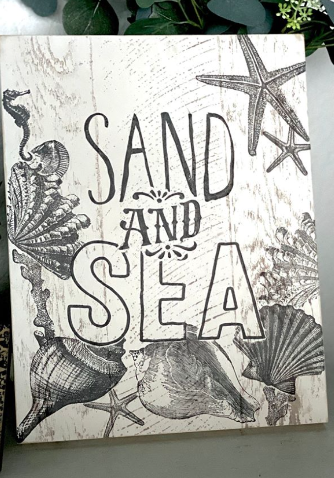 Sand and Sea DIY Wooden Beach Sign